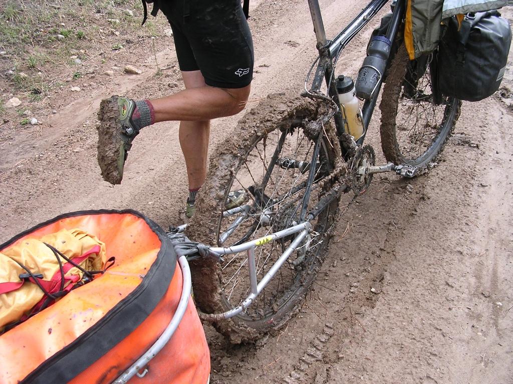 New Mexico mud on mountain bikes