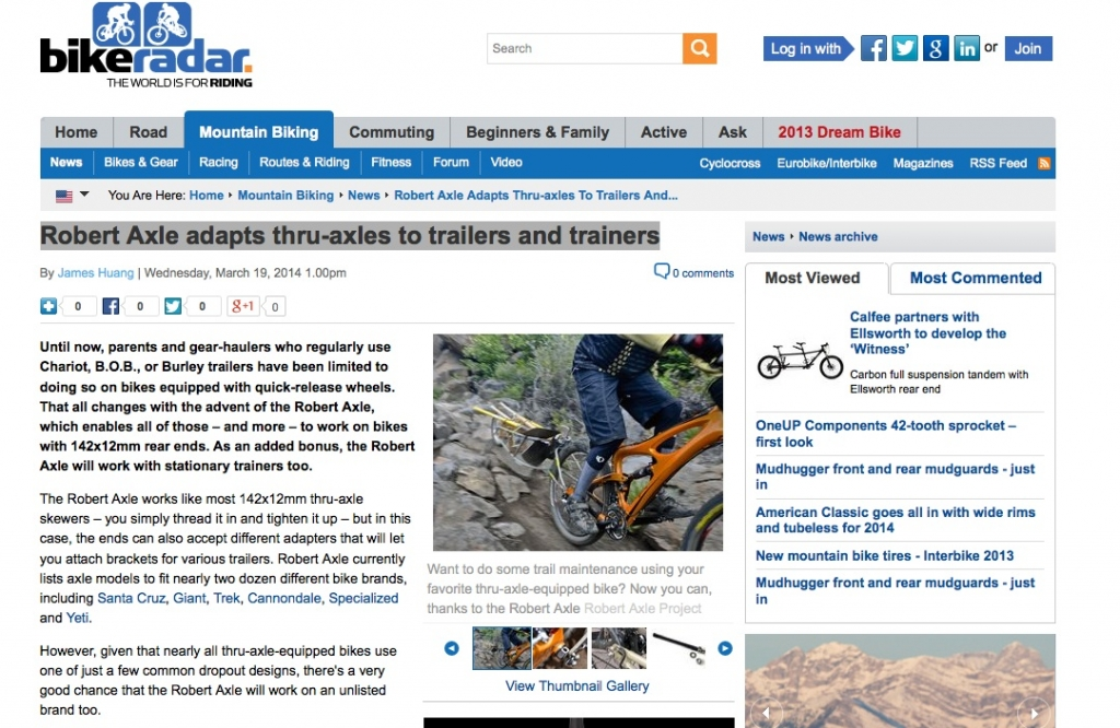 bike radar robert axle review