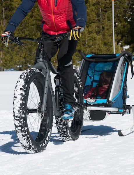 thule trailer fat bike snow