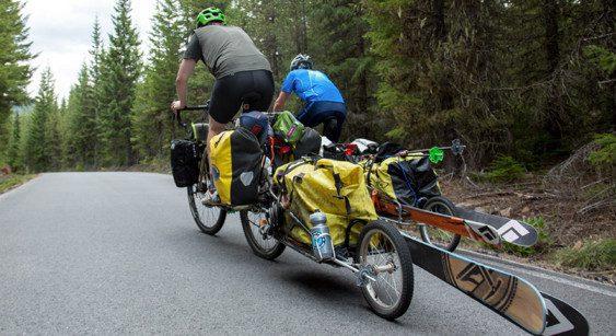 BOB Trailer for bike touring adventure