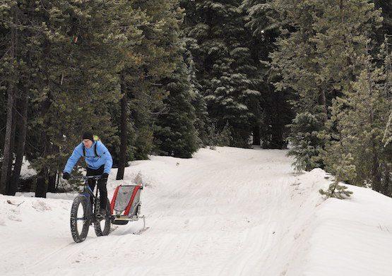 fat bike touring in winter