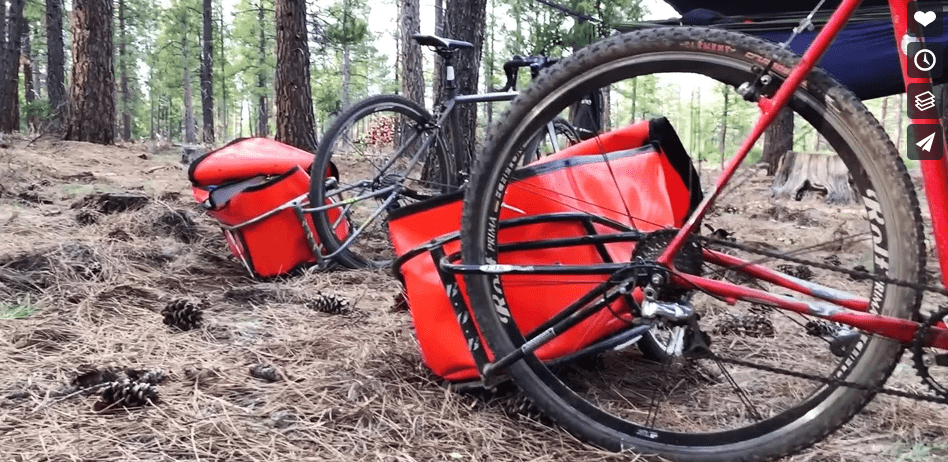 BOB Trailers on singletrack