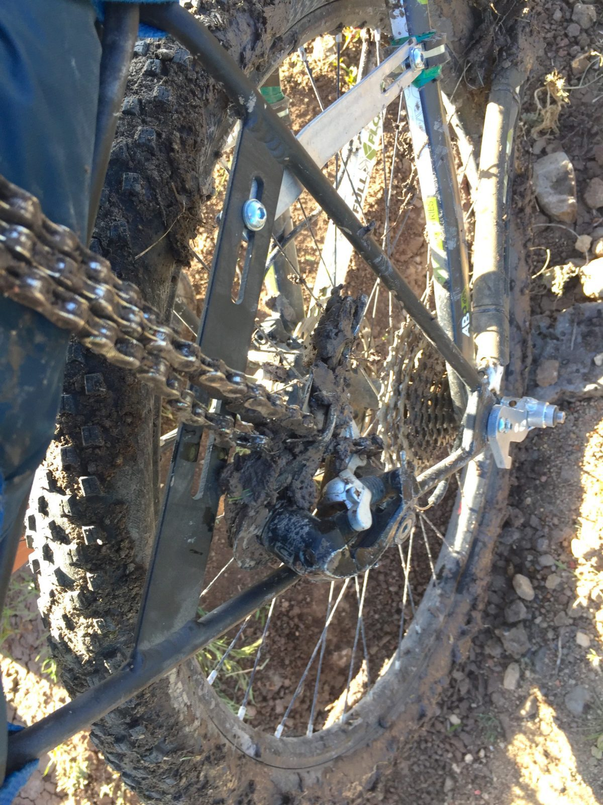broken derailleur bikepacking