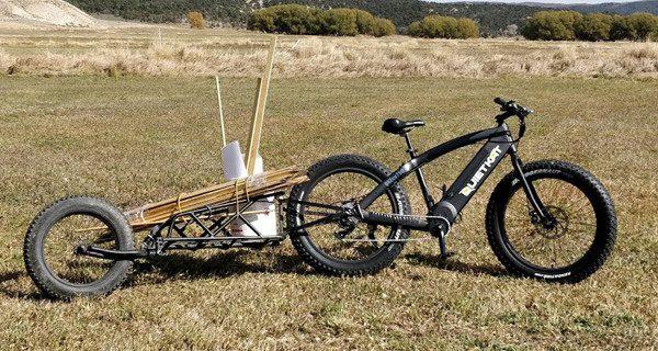 QuietKat bike trailer for trailwork