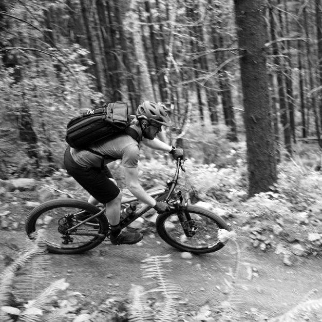 Erik riding at Sandy Ridge