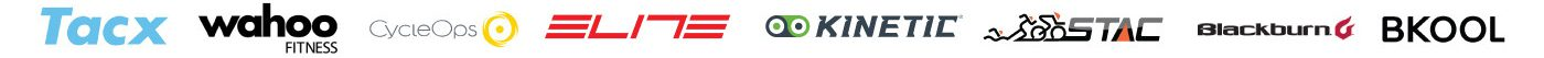 Bike Trainer Brand Logos: Tacx, Wahoo, CycleOps, Elite, Kinetic, Stac, BKOOL, Blackburn