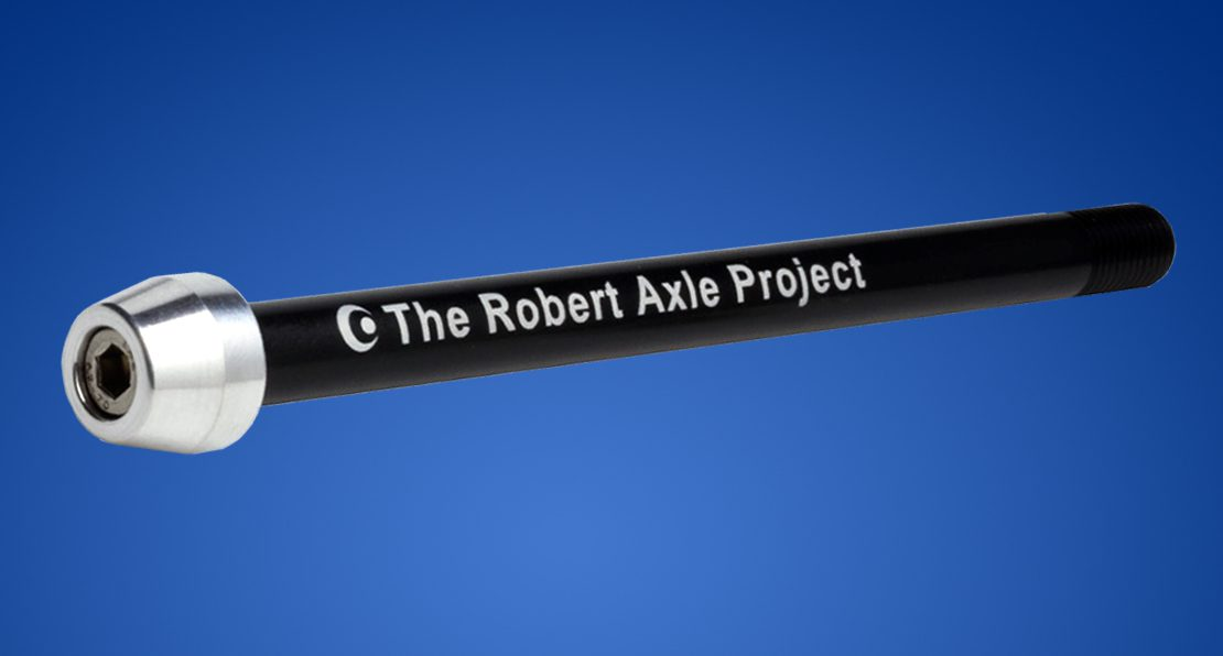 Robert Axle Project Trainer Axle on a blue background